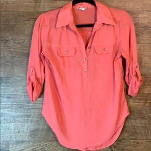 Coral blouse size small